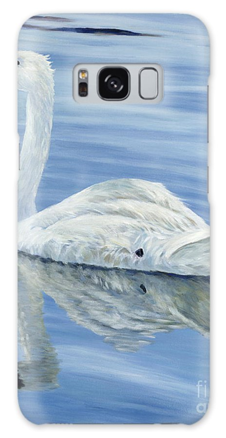 Swan Galaxy Case featuring the painting Solitary Swan by Danielle Perry