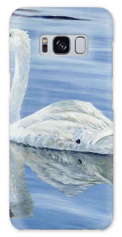 Swan Galaxy S8 Case featuring the painting Solitary Swan by Danielle Perry