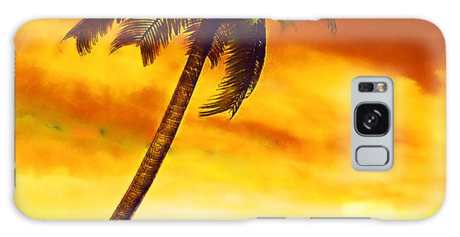 Palm Tree Galaxy S8 Case featuring the mixed media Solitary Vigil by Tyler Robbins