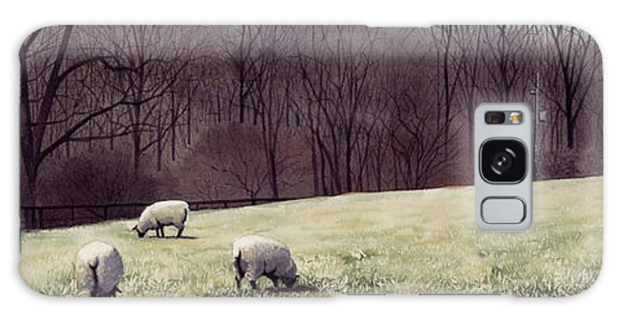 Sheep Galaxy S8 Case featuring the painting Solitude by Denny Bond