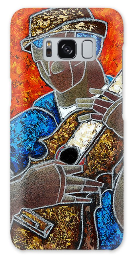 Puerto Rico Galaxy S8 Case featuring the painting Solo De Cuatro by Oscar Ortiz