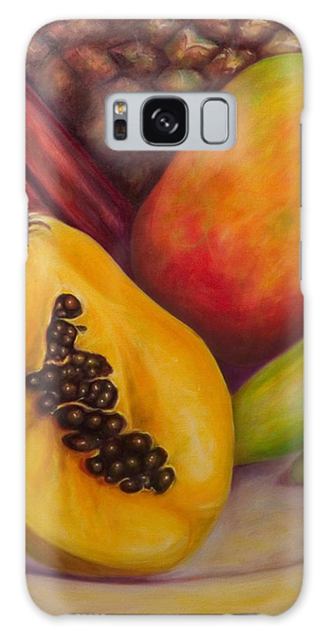 Tropical Fruit Still Life: Mangoes Galaxy Case featuring the painting Solo by Shannon Grissom
