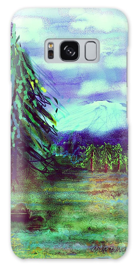 Tree Galaxy Case featuring the digital art Something Left Behind by Arline Wagner