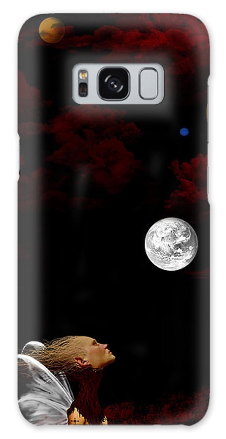 Moon Galaxy S8 Case featuring the digital art Sometimes I Wonder by Ruben Flanagan