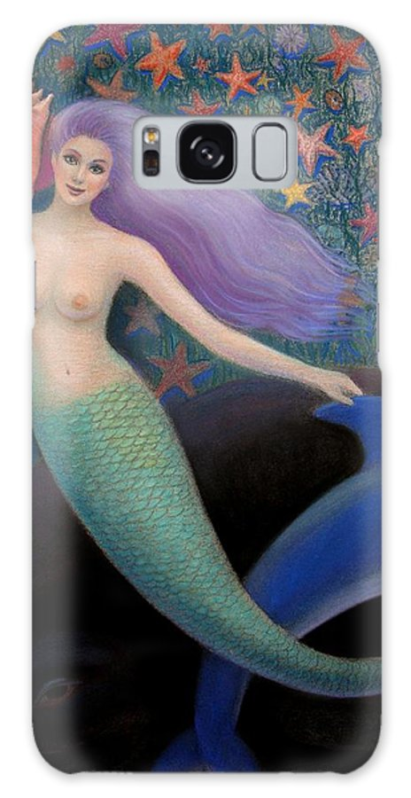 Mermaid Galaxy S8 Case featuring the painting Song Of The Sea Mermaid by Sue Halstenberg
