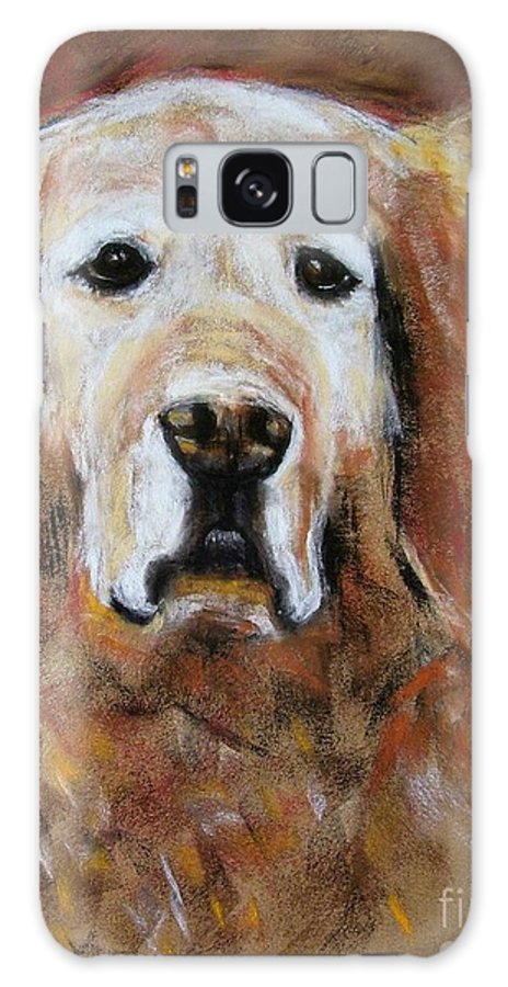 Golden Galaxy S8 Case featuring the painting Sonny by Frances Marino