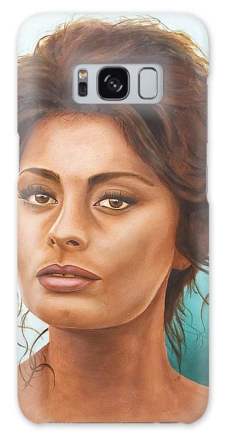 Moviestar Galaxy Case featuring the painting Sophia Loren by Rob De Vries