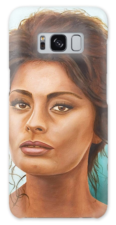 Moviestar Galaxy S8 Case featuring the painting Sophia Loren by Rob De Vries