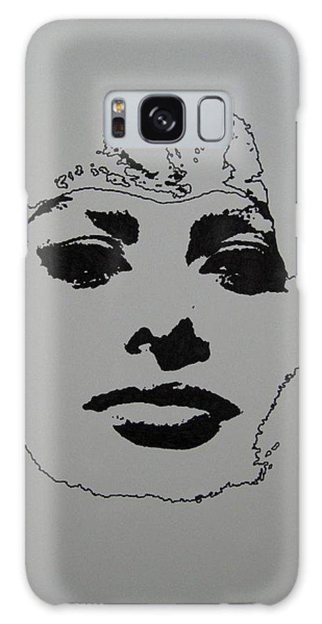 Sophia Galaxy S8 Case featuring the drawing Sophia by Lynet McDonald