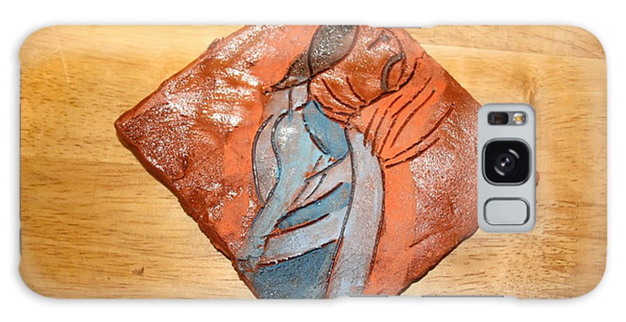 Jesus Galaxy S8 Case featuring the ceramic art Soprano - Tile by Gloria Ssali