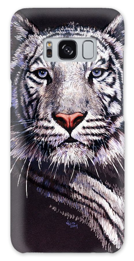 Tiger Galaxy S8 Case featuring the drawing Sorcerer by Barbara Keith
