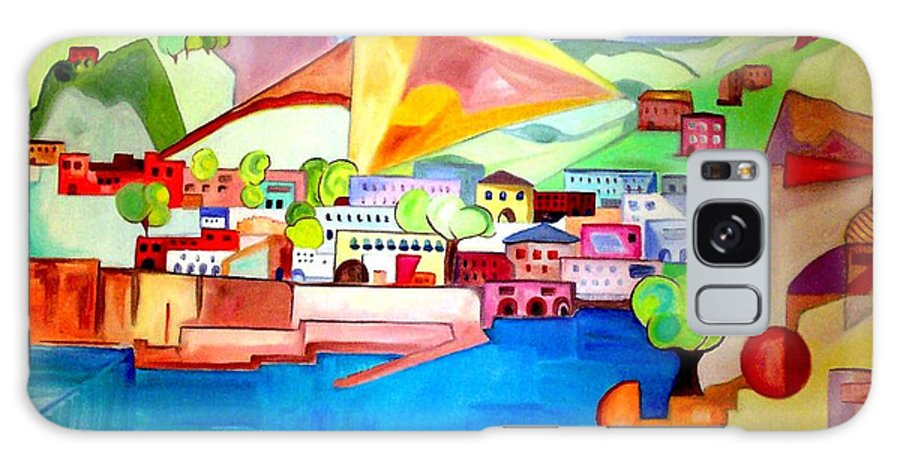 Abstract Galaxy Case featuring the painting Sorrento by Patricia Arroyo