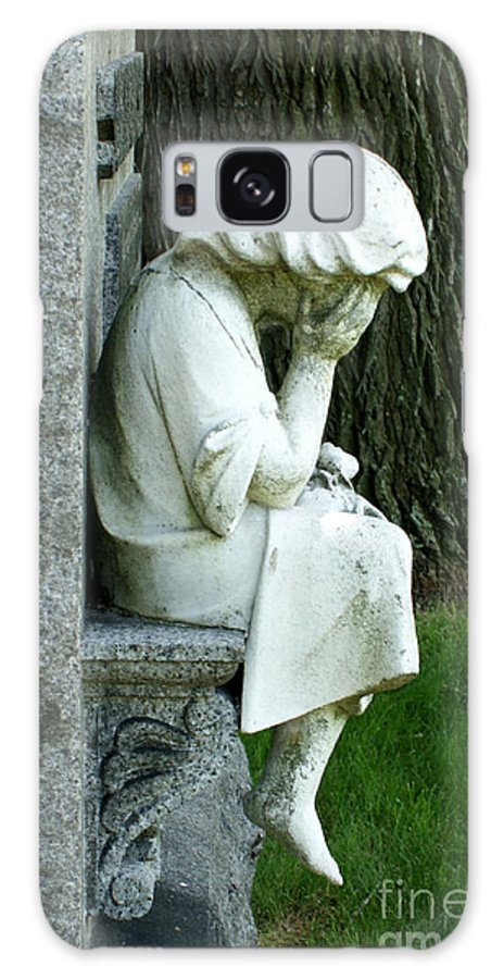 Cemetery Galaxy S8 Case featuring the photograph Sorrow by Valerie Fuqua