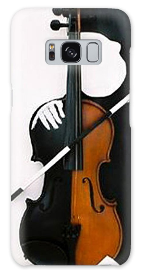 Violin Galaxy Case featuring the sculpture Soul Of Music by Steve Karol