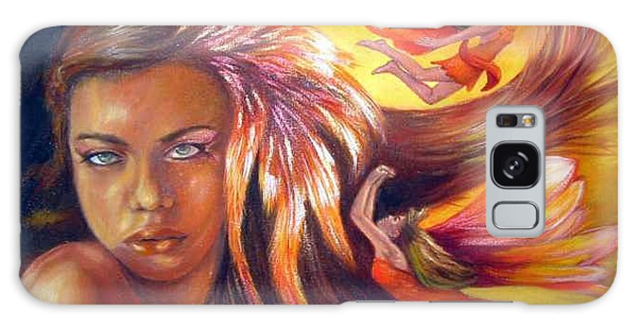 Galaxy S8 Case featuring the painting Soulfire by Anne Kushnick