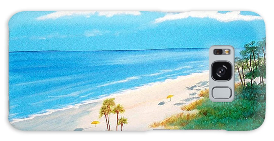 Beach Galaxy S8 Case featuring the painting South Carolina Beach by Nancy Nuce