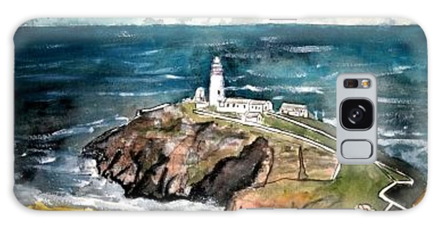 South Stack Lighthouse Galaxy S8 Case featuring the painting South Stack Lighthouse by Derek Mccrea