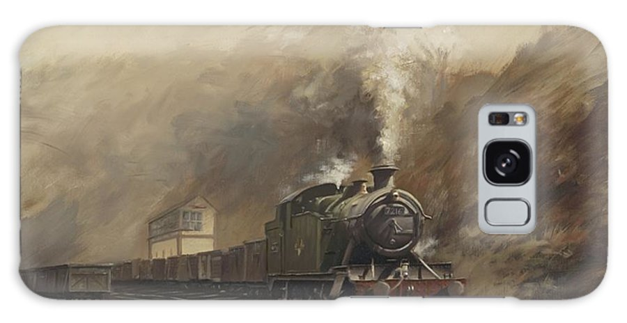 Steam Galaxy S8 Case featuring the painting South Wales Coal Train by Richard Picton