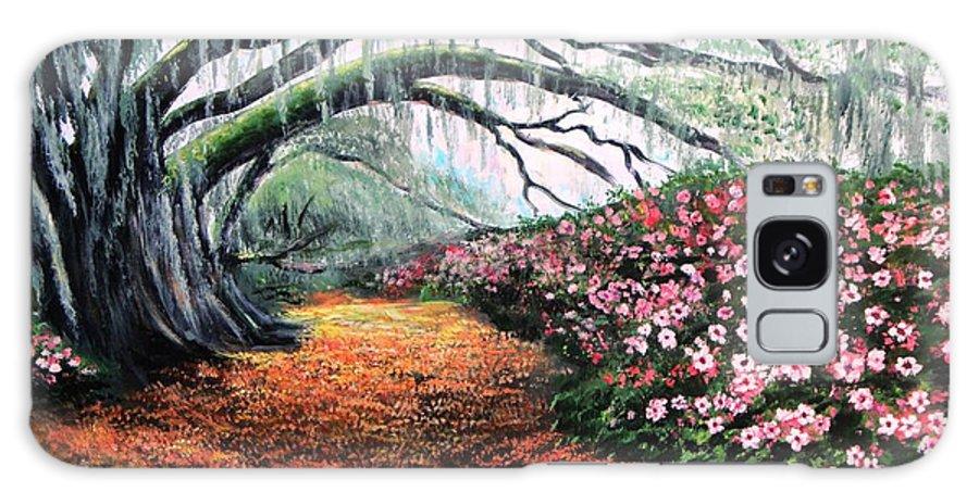 Azalea Galaxy S8 Case featuring the painting Southern Charm Oak And Azalea by Patricia L Davidson