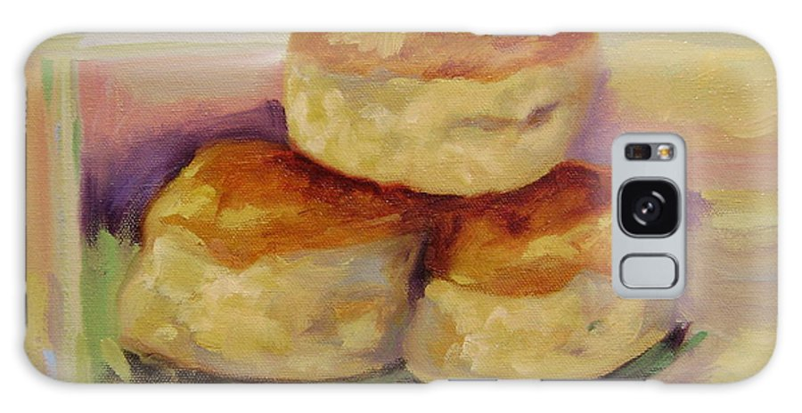 Biscuits Galaxy Case featuring the painting Southern Morning Fare by Ginger Concepcion