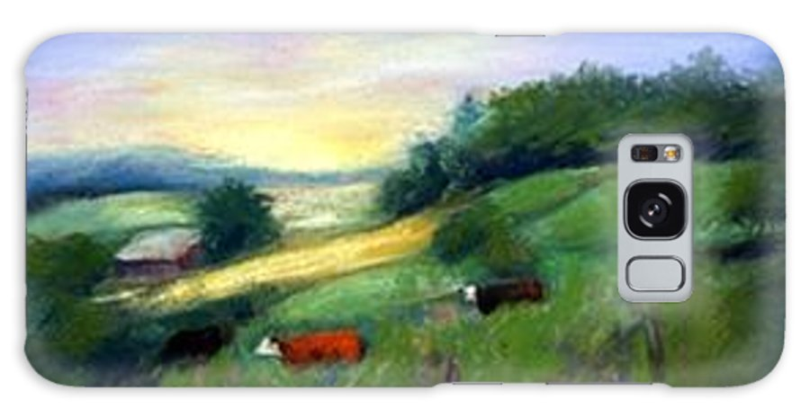 Landscape Galaxy S8 Case featuring the painting Southern Ohio Farm by Gail Kirtz