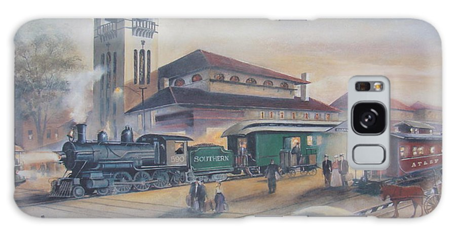 Charles Roy Smith Galaxy S8 Case featuring the painting Southern Railway by Charles Roy Smith