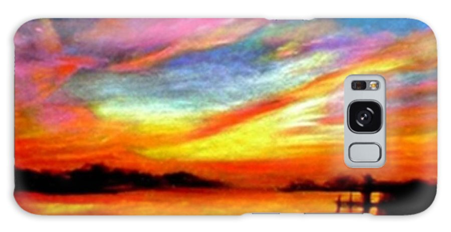 Sunset Galaxy Case featuring the painting Southern Sunset by Gail Kirtz