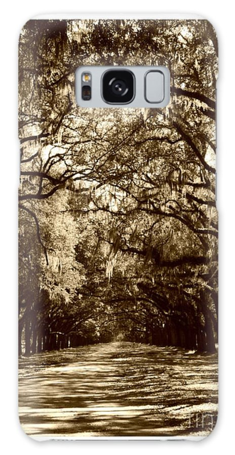 Brown Galaxy S8 Case featuring the photograph Southern Welcome In Sepia by Carol Groenen