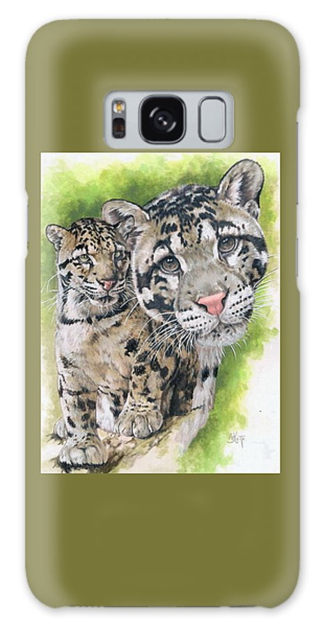 Clouded Leopard Galaxy S8 Case featuring the mixed media Sovereignty by Barbara Keith