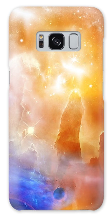 Abstract Galaxy S8 Case featuring the digital art Space 007 by Svetlana Sewell