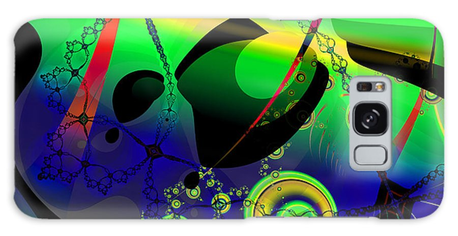 Fractal Galaxy S8 Case featuring the digital art Space Carnival by Frederic Durville