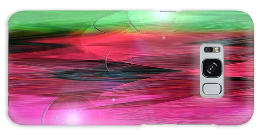 Space Art Galaxy S8 Case featuring the digital art Space Oddity by Linda Sannuti