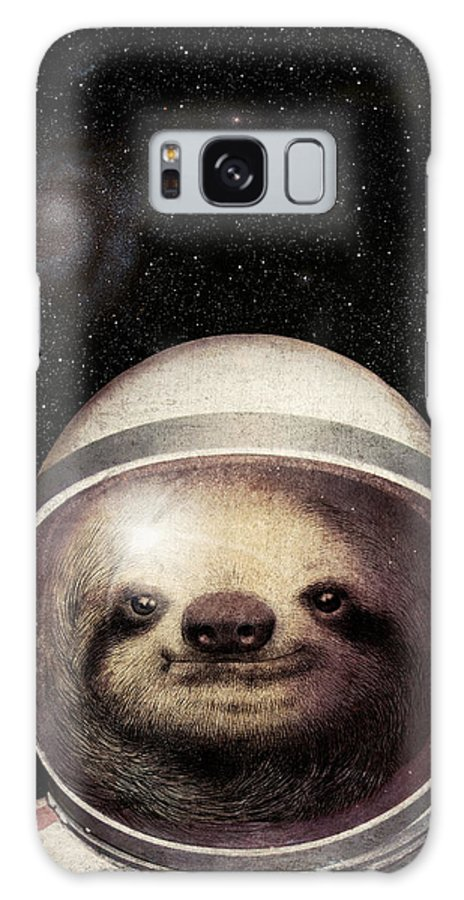 Sloth Galaxy Case featuring the drawing Space Sloth by Eric Fan