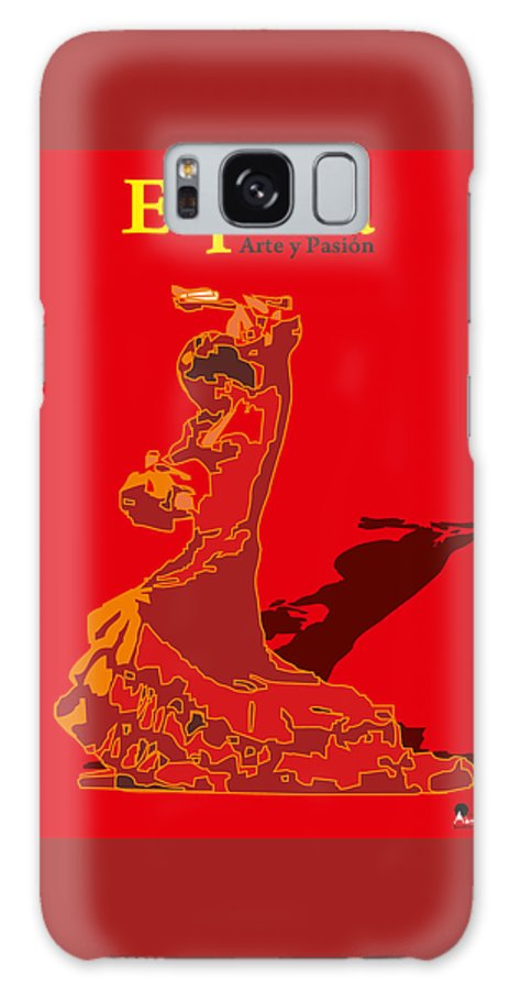 Spanish Galaxy S8 Case featuring the digital art Spain Reed by Joaquin Abella