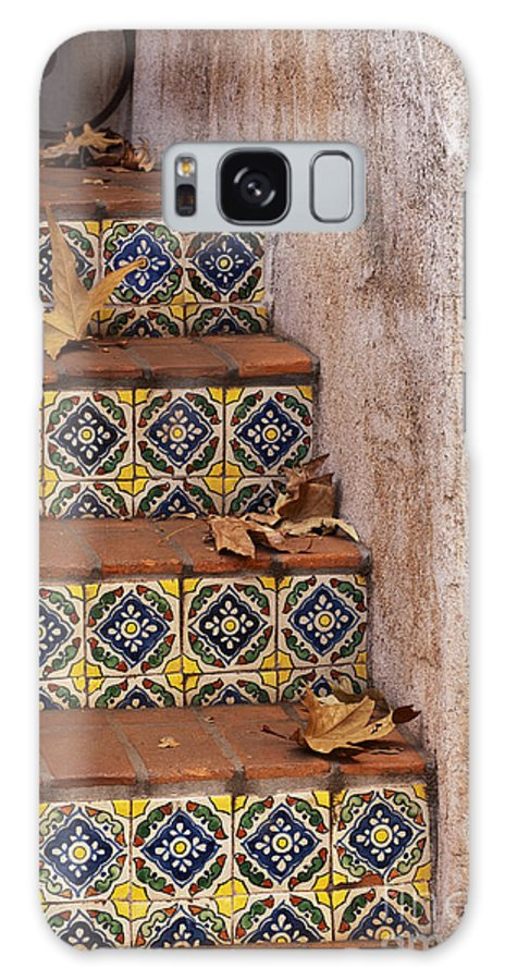 Southwest Galaxy S8 Case featuring the photograph Spanish Tile Stair by Sandra Bronstein