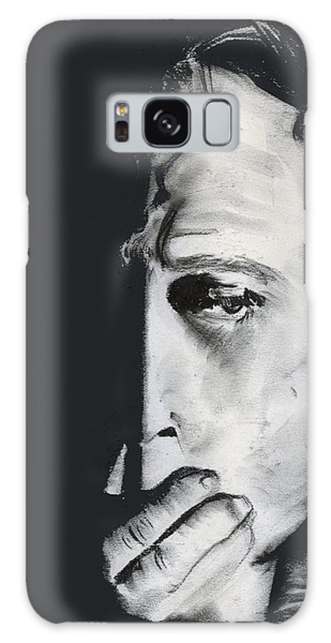 Man Galaxy Case featuring the pastel Speak No Evil by Arline Wagner
