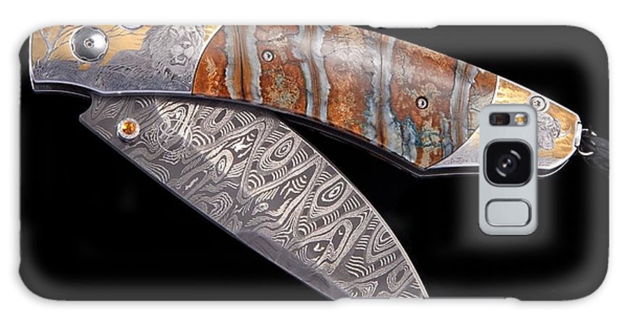 Engraved Knives Galaxy S8 Case featuring the drawing Spearpoint Kenya by Williamhenry Williamhenry
