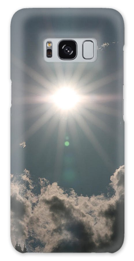 Sun Clouds Sky Solar Star Trees Bright Happy Sunshine Galaxy S8 Case featuring the photograph Spectacular Sun by Andrea Lawrence