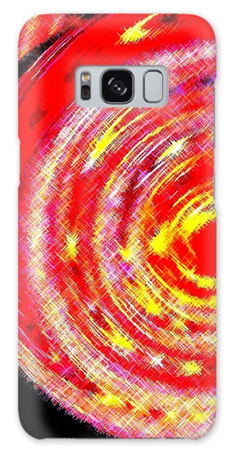 Abstract Galaxy S8 Case featuring the digital art Spinoff by Will Borden
