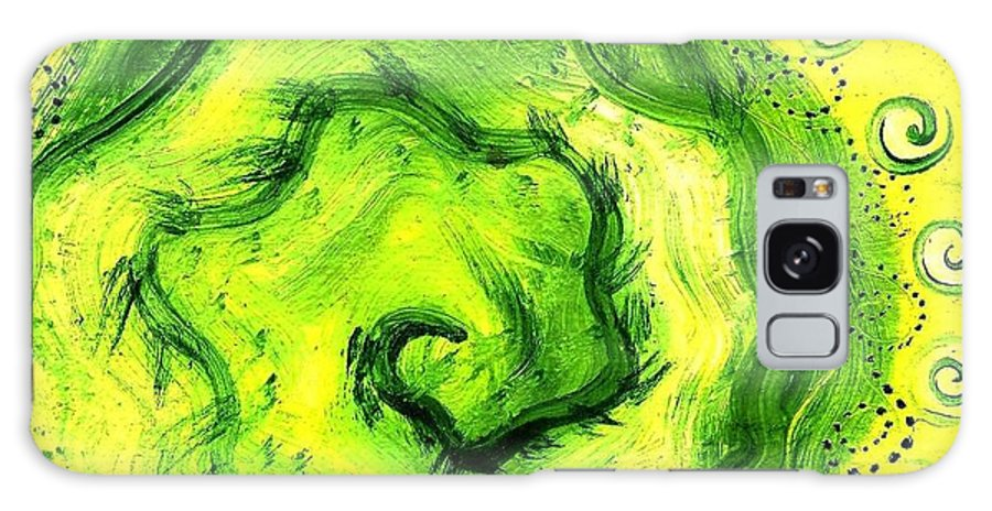 Green Galaxy S8 Case featuring the painting Spiral Of The Heart by Chandelle Hazen