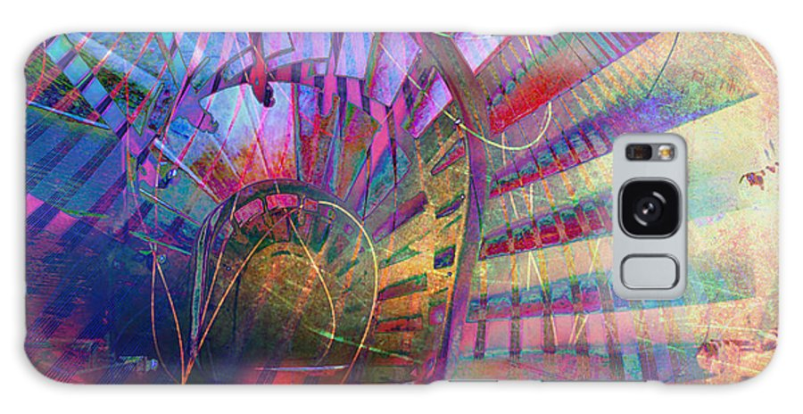 Spiral Galaxy S8 Case featuring the digital art Spiral Staircase by Barbara Berney