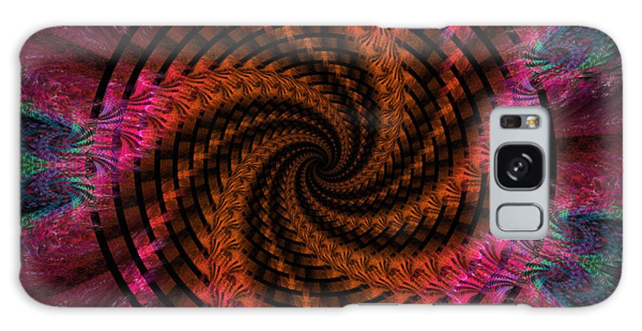 Digital Galaxy S8 Case featuring the digital art Spiraling Into The Abyss by Deborah Benoit