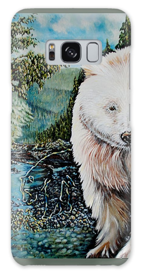 Spirit Bear Galaxy Case featuring the painting Spirit Bear by Susan Moore