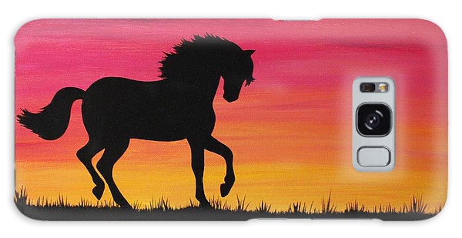 Horse Galaxy S8 Case featuring the painting Spirit by Emily Page