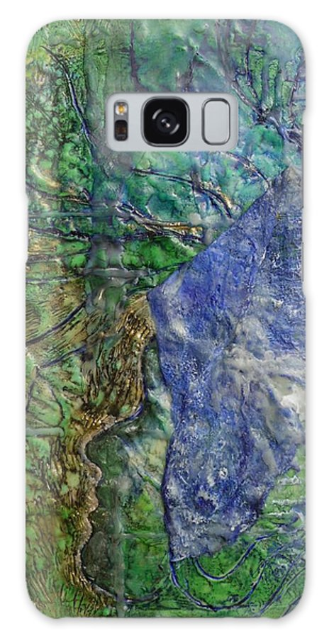 Spirit Guide Galaxy Case featuring the painting Spirit Guide For Eve by Heather Hennick