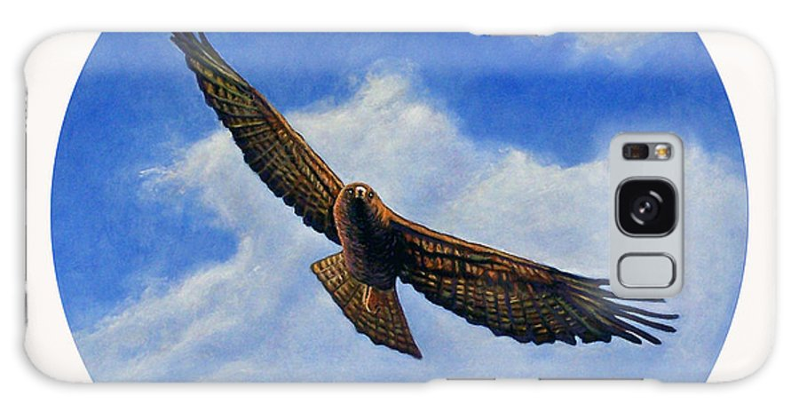 Hawk Galaxy Case featuring the painting Spirit In The Wind by Brian Commerford