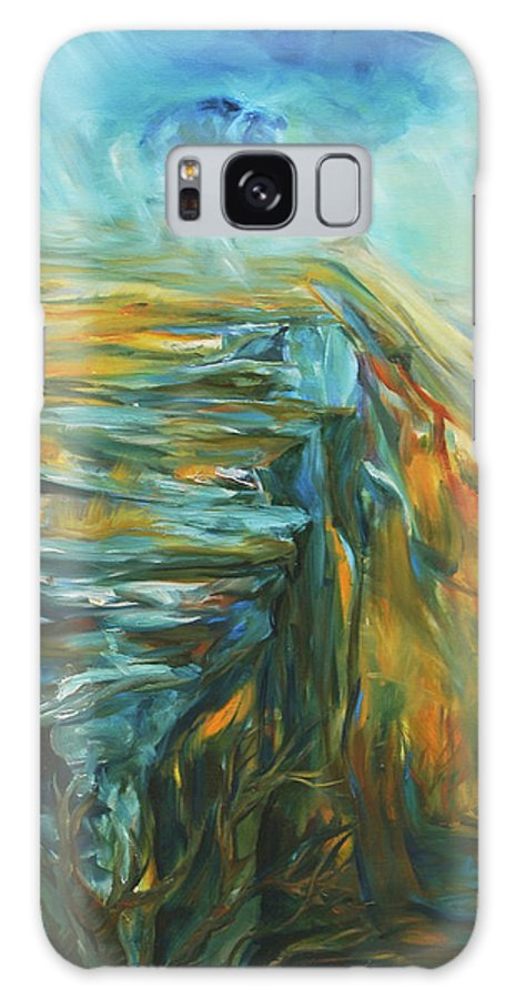 Bison Galaxy S8 Case featuring the painting Spirit Of The Jump by Jennifer Christenson