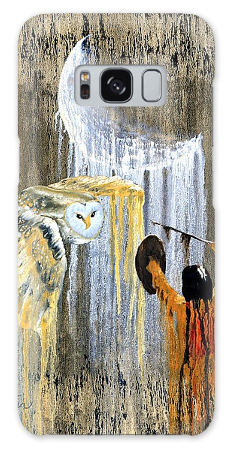 Indian Art Galaxy S8 Case featuring the painting Spirit Of The Night by Patrick Trotter