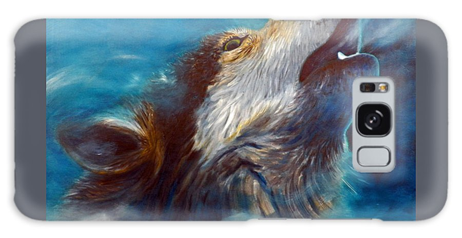 Wolf Galaxy Case featuring the painting Spirit Of The Wolf by Brian Commerford