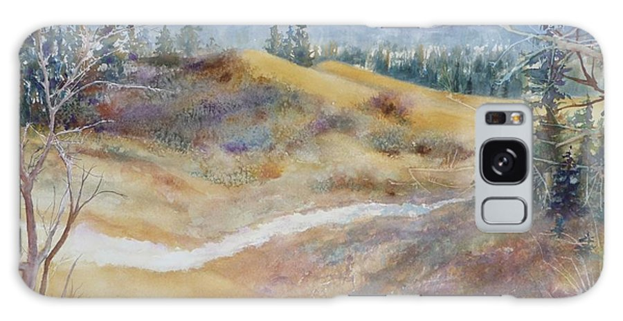 Landscape Galaxy S8 Case featuring the painting Spirit Sands by Ruth Kamenev